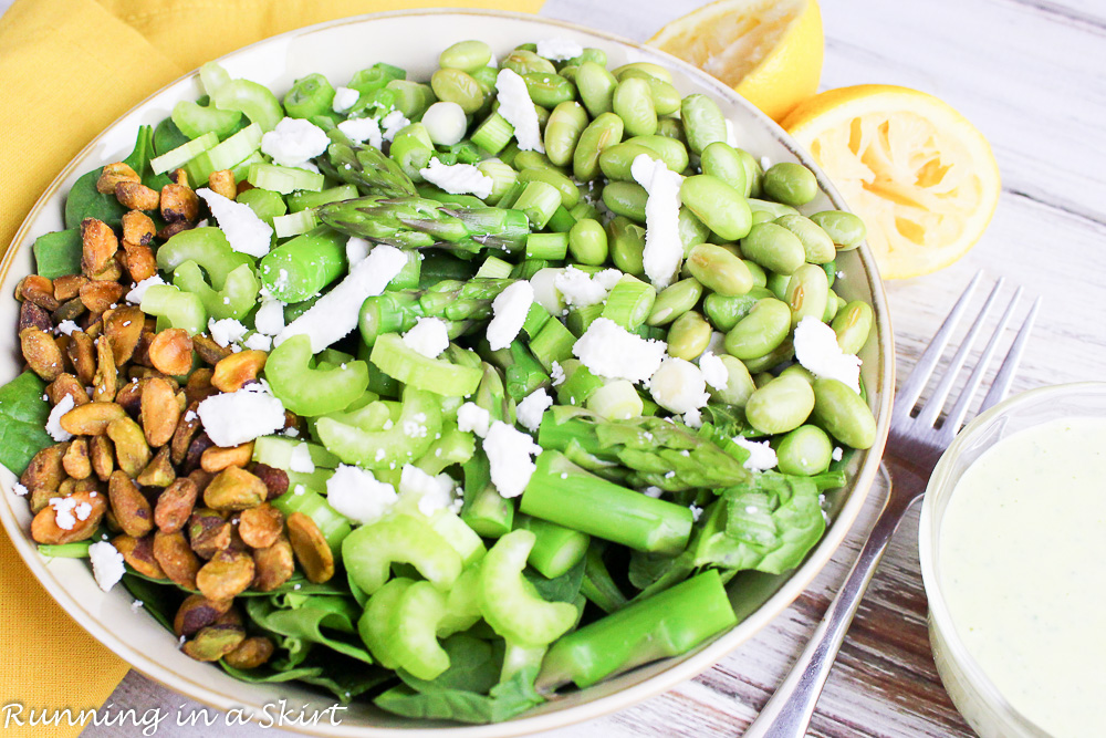 Best Green Salad - Greenest Green Chopped Salad recipe / Running in a Skirt