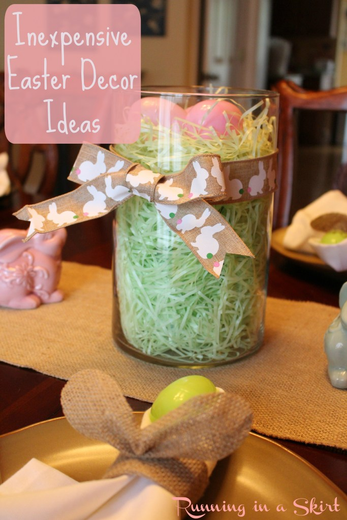 Inexpensive Easter Decor Ideas! Includes tablescape ideas for cheap!