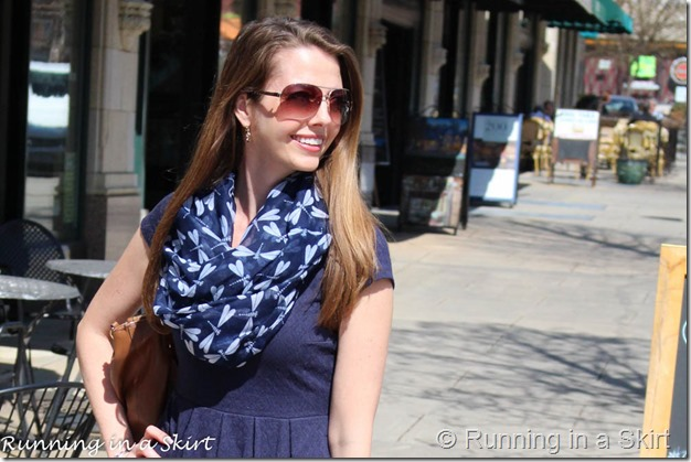 Transitioning to spring with the perfect mix of winter and summer pieces! #fashion #aboutalook / Running in a Skirt