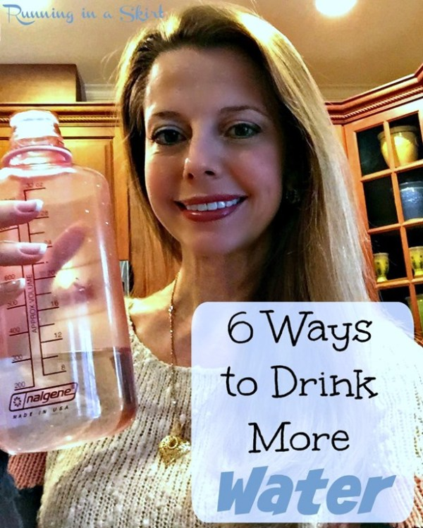 6 Ways to Drink More Water - easy tips to make a huge life change!