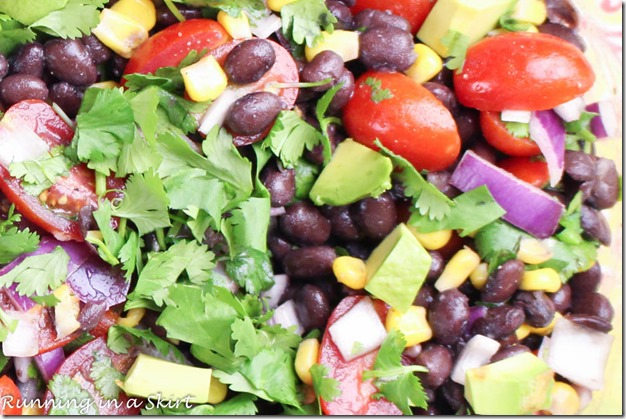 My Black Bean Salsa recipe is yummy and versatile! It's a perfect dish for a party or summer cookout.