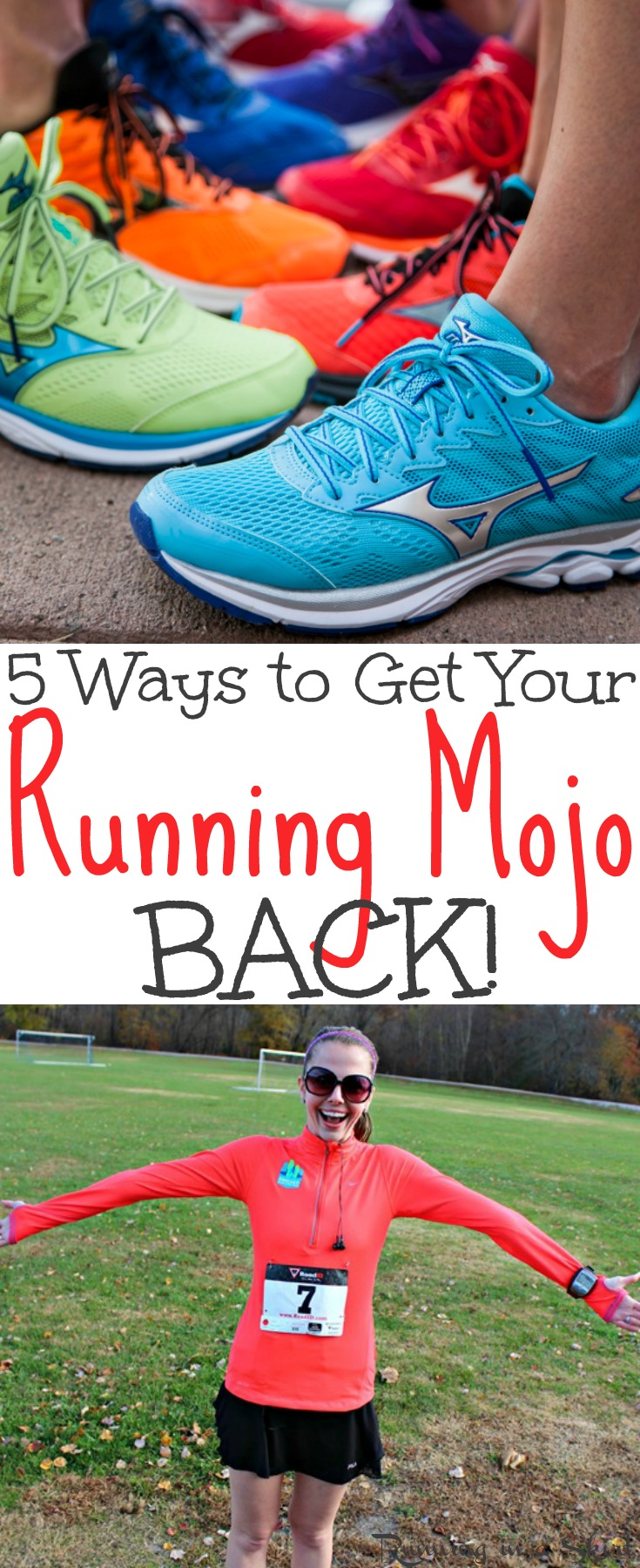 5 Ways to Get Your Running Mojo Back - fitness running motivation and mental tips for runners who are struggling to stay motivated. Simple ways to get back to jogging, treadmill running or trail running - no excuses! / Running in a Skirt via @juliewunder