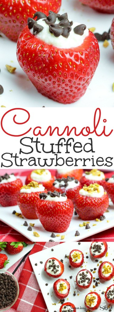 healthy cannoli stuffed strawberries