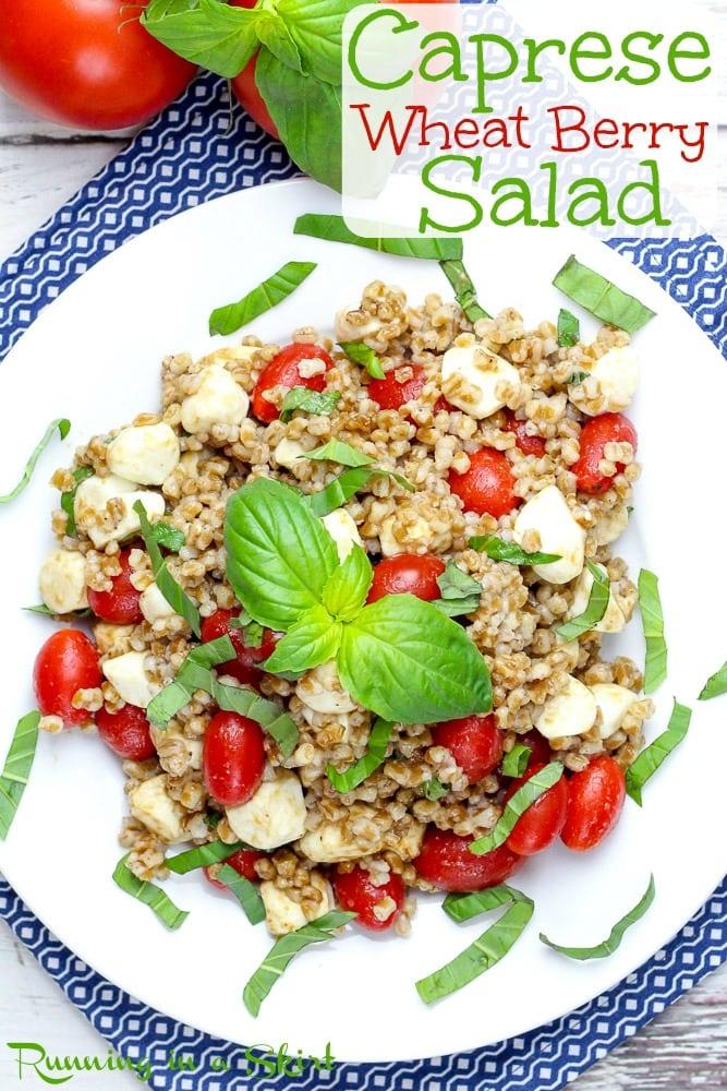 6 Ingredient Caprese Wheat Berry Salad Recipe
