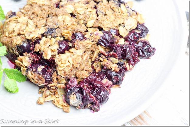 Healthy Blueberry Crisp-