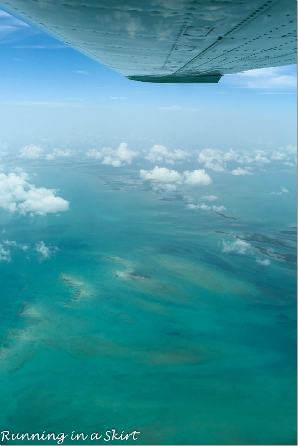 Flying to the Bahamas, Blue Waters