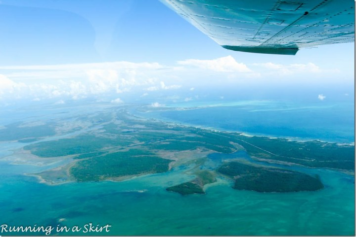 Flying to Bahamas, March Harbor