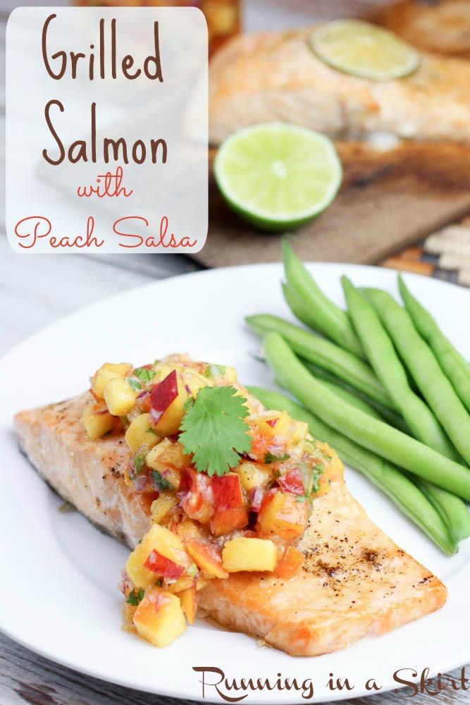 Salmon with Peach Salsa