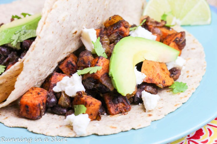 Sweet Potato and Black Bean Tacos-