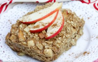 apple cinnamon baked oatmeal recipe / Running in a Skirt