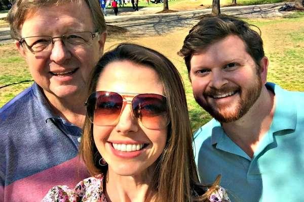 julie dad tommy selfie freedom park s