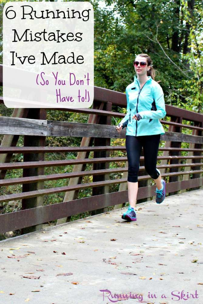 5 Running Mistakes I've Made (So You Don't Have To) - Fresh running advice from a girls who's made them all!! / Running in a Skirt