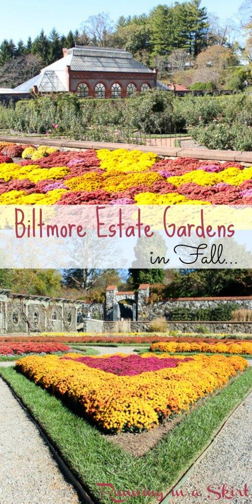 Biltmore Estate Gardens in Fall