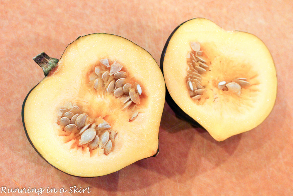Easy Healthy Baked Acorn Squash- Not loaded with sugar and butter/ Running in a Skirt