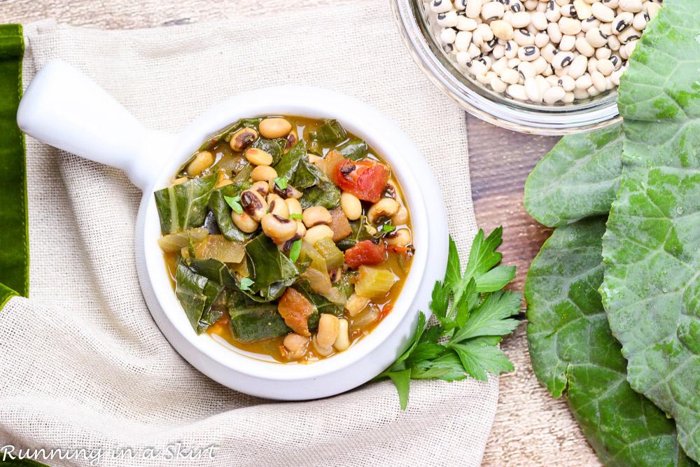 Vegetarian Crock Pot Black Eyed Peas And Collard Greens Soup 29 4