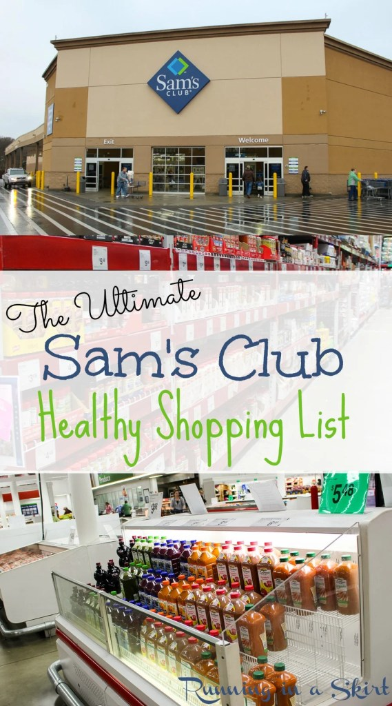 The Ultimate Sam's Club Healthy Shopping List - complete shopping list with the healthiest finds at Sam's Club! / Running in a Skirt