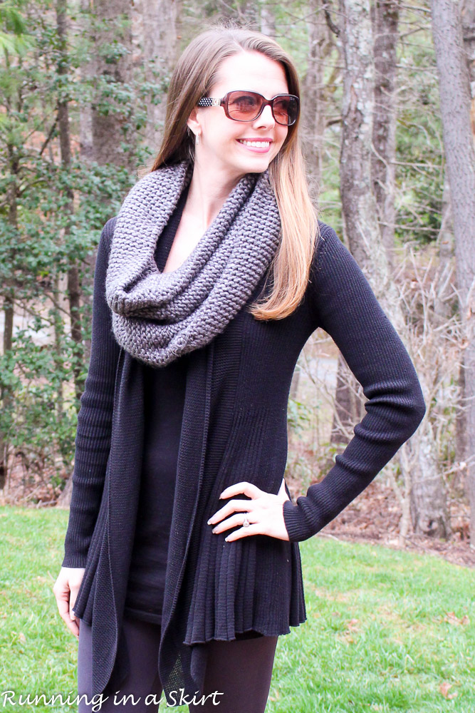 Gray Infinity Scarf & Leggings