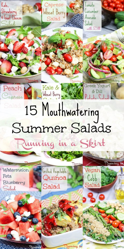 15 Mouthwatering Summer Salads - you will want to eat now. / Running in a Skirt