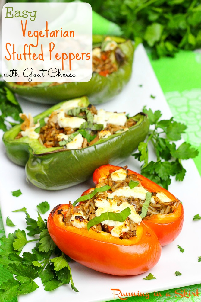 Easy Vegetarian Stuffed Peppers with Goat Cheese from 80 Fresh
