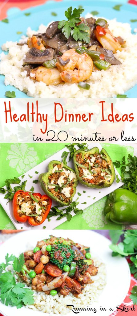 Healthy Dinner Ideas in 20 minutes or less with 80 Fresh