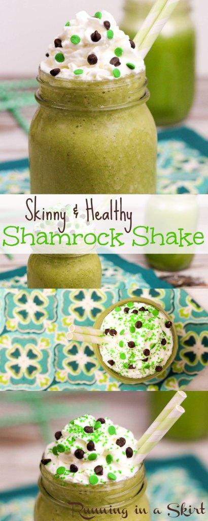 Skinny Shamrock Shake Healthy Shamrock Shake recipe