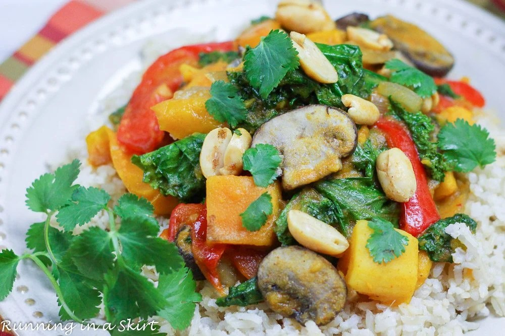 Vegetarian Crock Pot Red Curry