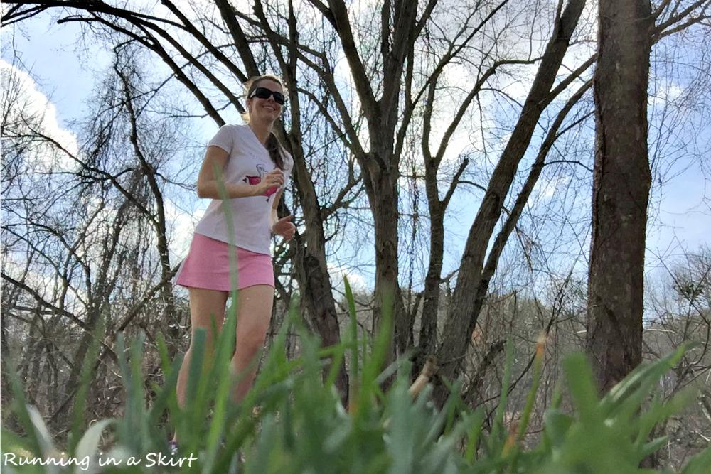 Julie Running in a Skirt