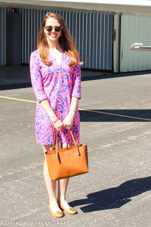 Lilly Pulitzer printed t-shirt dress / Running in a Skirt