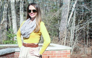 Yellow Sweater for Spring / Running in a Skirt