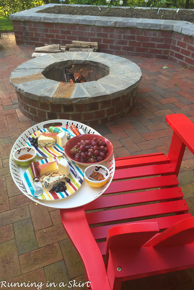 Cheese plate & fire pit