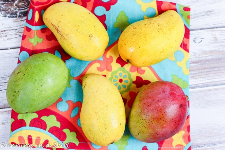 Colorful mangoes.