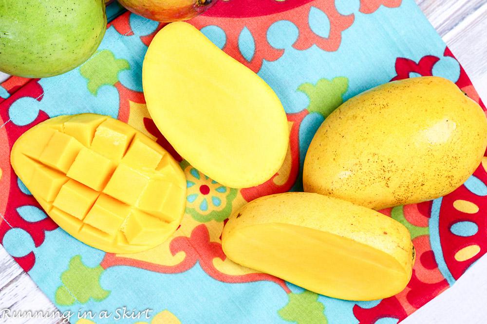 2 Ingredient Healthy Mango Sorbet, clean eating! / Running in a Skirt