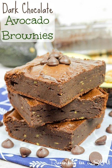 Dark Chocolate Avocado Brownies- no butter or oil / Running in a Skirt