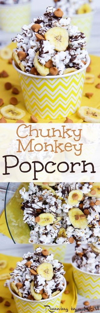 Chunky Monkey Popcorn recipe / Running in a Skirt