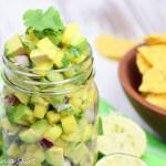 6 Ingredient Mango and Avocado Salsa recipe