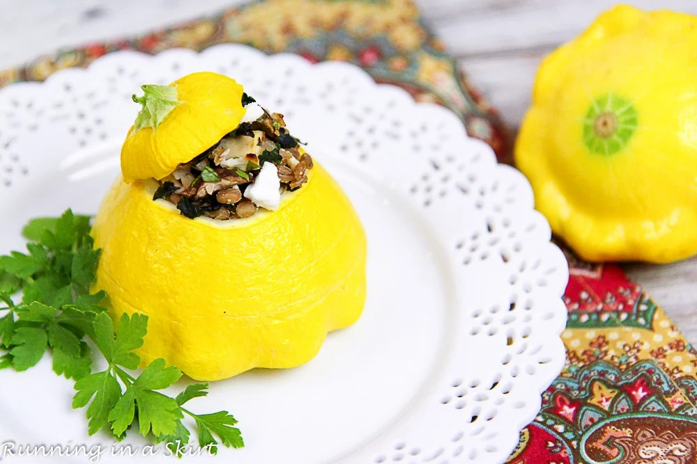 Stuffed Patty Pan Squash recipe./ Running in a Skirt