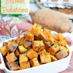 4 Ingredient Simple Roast Sweet Potatoes / Running in a Skirt