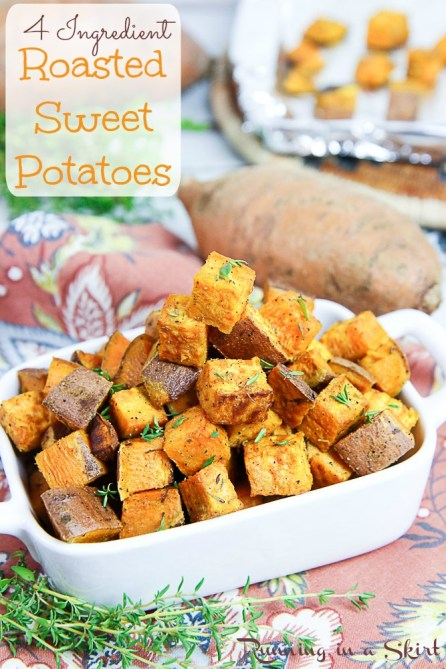 4 Ingredient Simple Roasted Sweet Potatoes