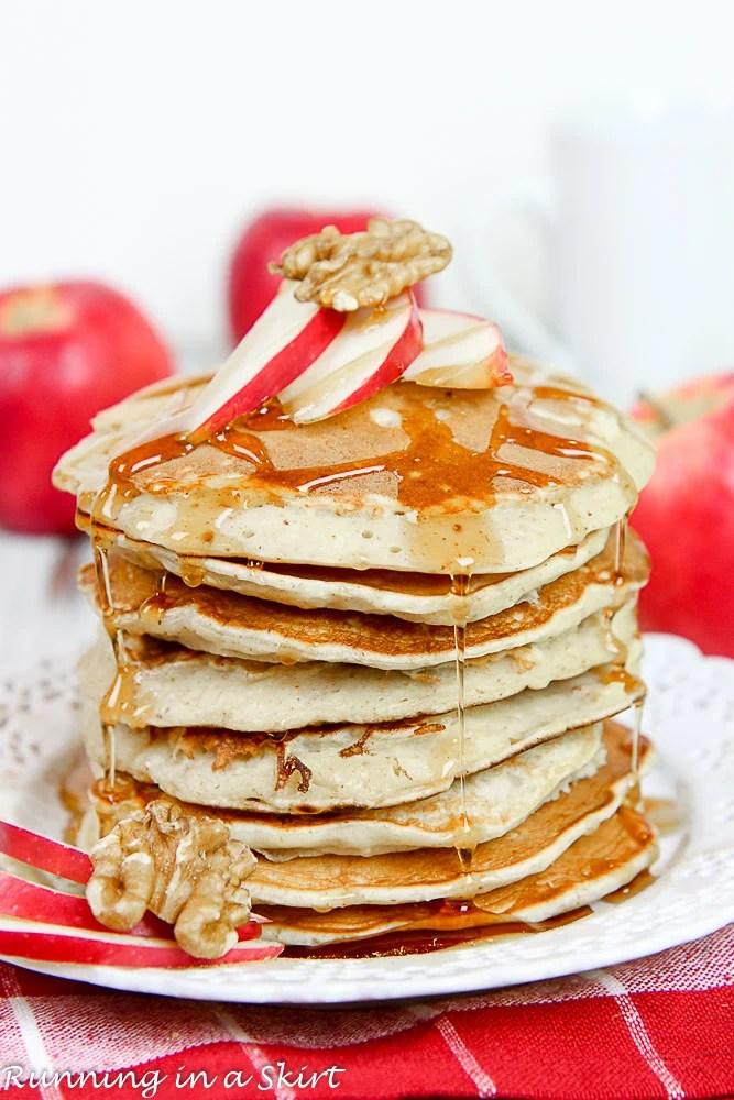 Apple Pie Greek Yogurt Pancakes Healthy-16-1