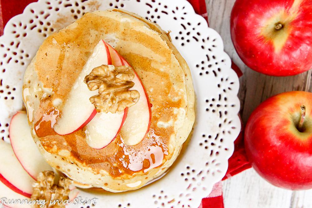 Apple Pie Greek Yogurt Pancakes Healthy-47-6
