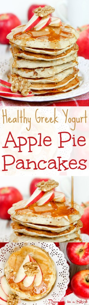 Apple Pie Greek Yogurt Pancakes Healthy