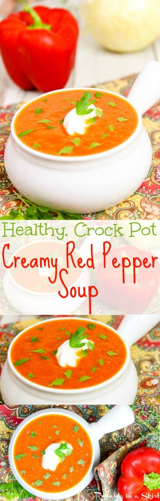 Healthy Creamy Crock Pot Red Pepper Soup / Running in a Skirt