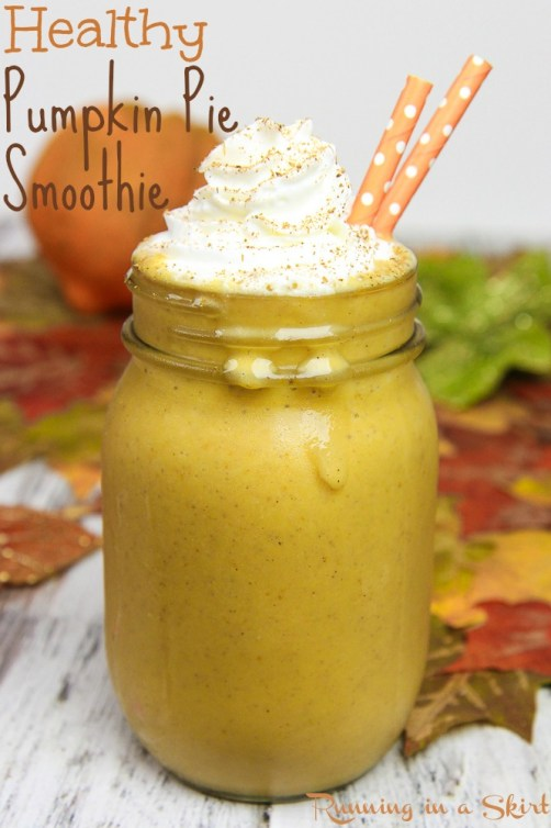 Healthy Pumpkin Pie Smoothie recipe / Running in a Skirt