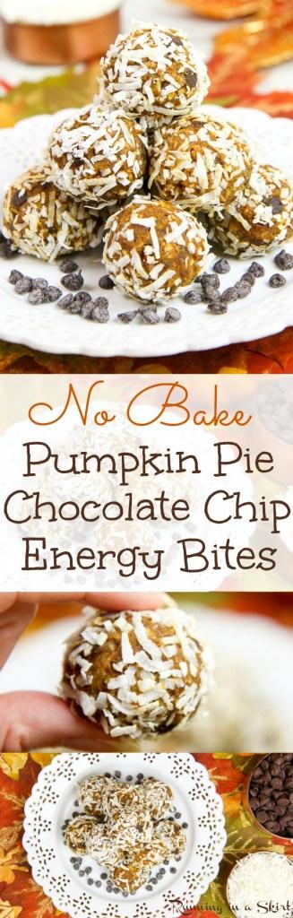 No Bake Pumpkin Pie Bites