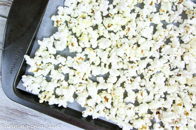 Dark Chocolate Peppermint Popcorn / Running in a Skirt