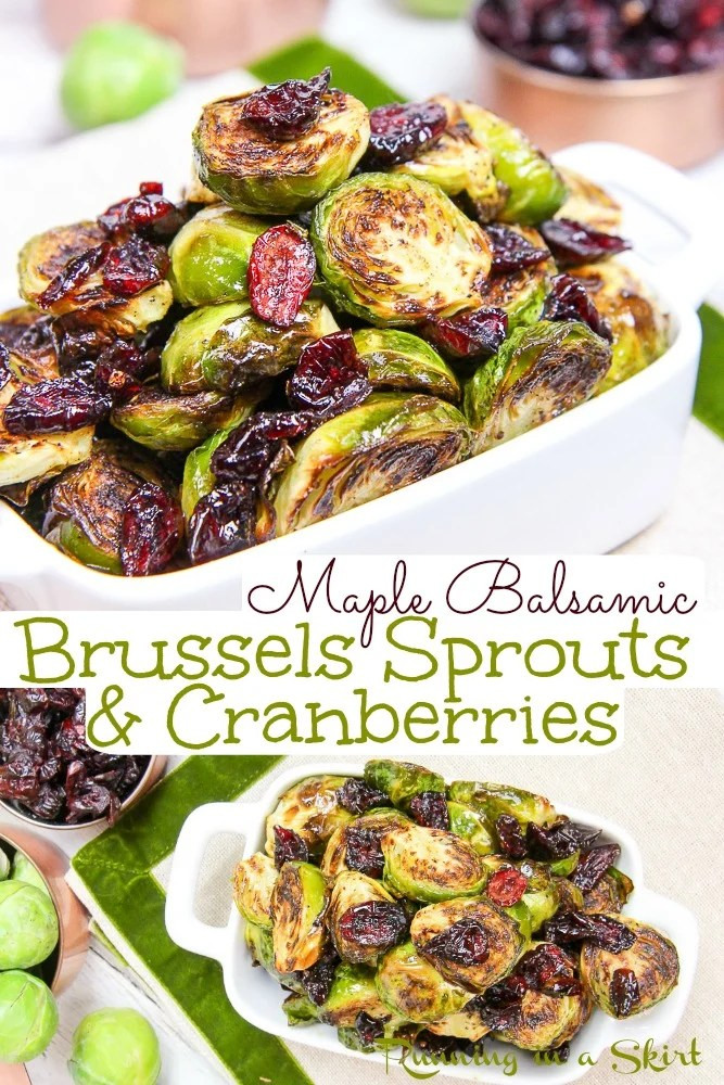 Brussels Sprouts and Cranberries Brussels Sprouts for Thanksgiving recipe pin