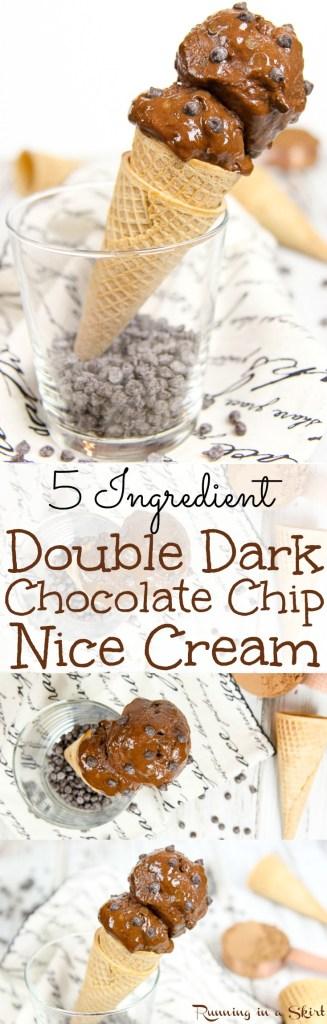 5 Ingredient Double Dark Chocolate Nice Cream / Running in a Skirt