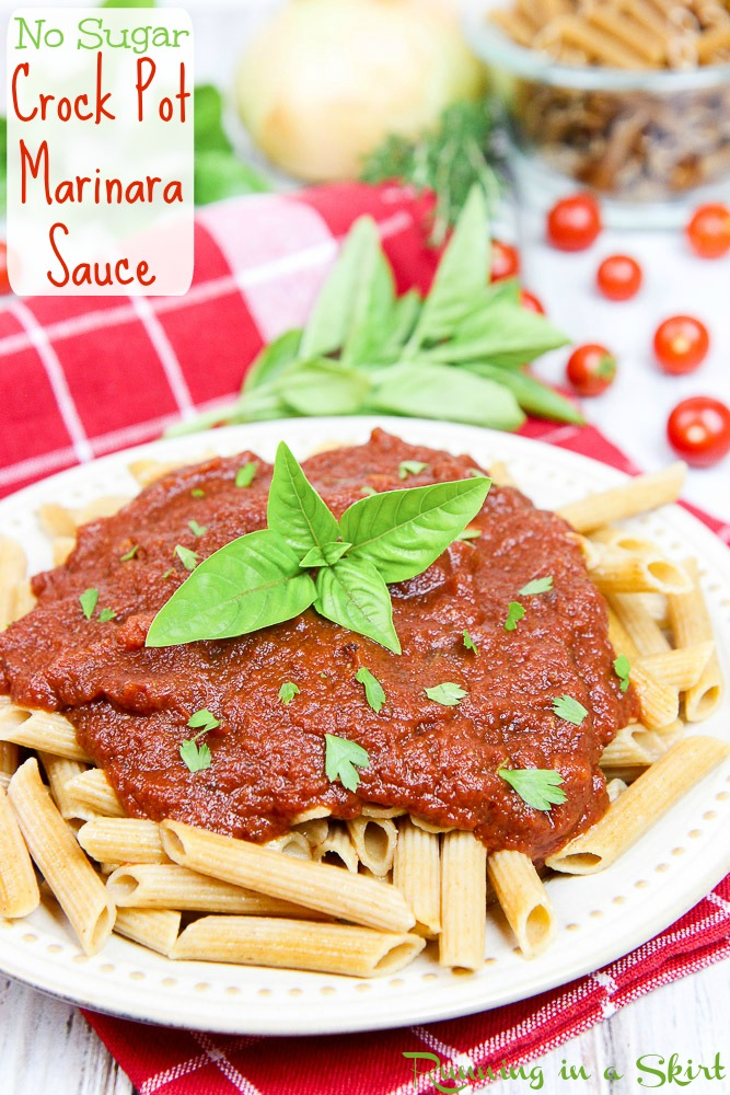 Easy Crock Pot Marinara Sauce recipe / Running in a Skirt