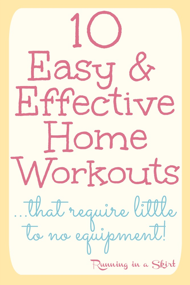 10 Easy and Effective Home Workouts that require little to no equipment