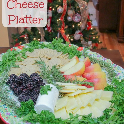 Christmas Cheese Platter.5 Minute Holiday Cheese Platter